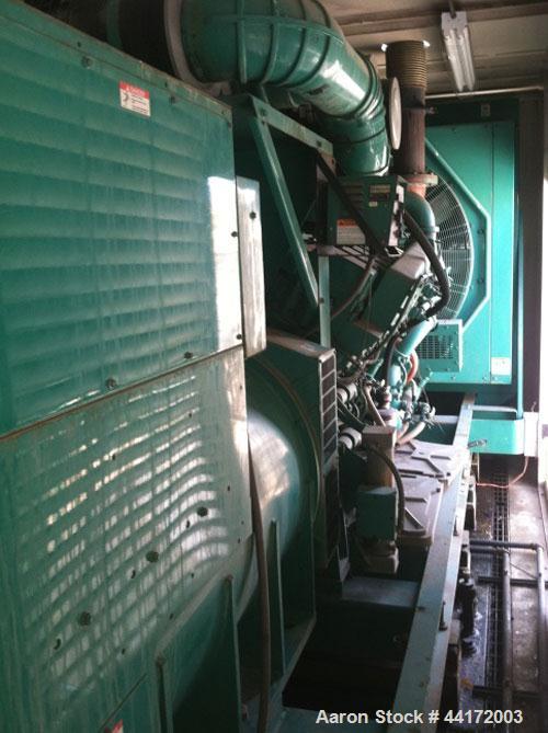 Used-Cummins 1500kW Standby Diesel Generator Set. Cummins model 1500DFMB, SN-F950580271. 3/60/480V. PMG - permanent magnet g...
