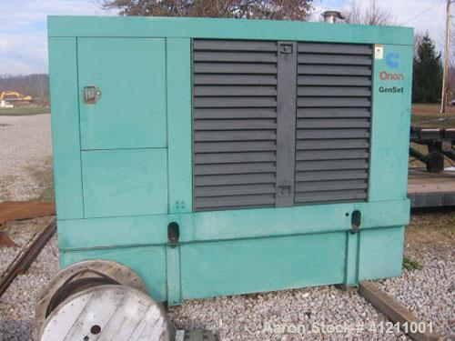 Used-Cummins / Onan 175 kW diesel generator set, 3/60/277/480V. Model 175DGFB. Weather enclosure, base fuel tank. 500 hours....