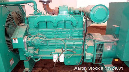 Used- Cummins / Onan 275kW Standby (250 kW Prime) Diesel Generator Set. Cummins model 275DFBF, SN- H940551392. Cummins NT-85...
