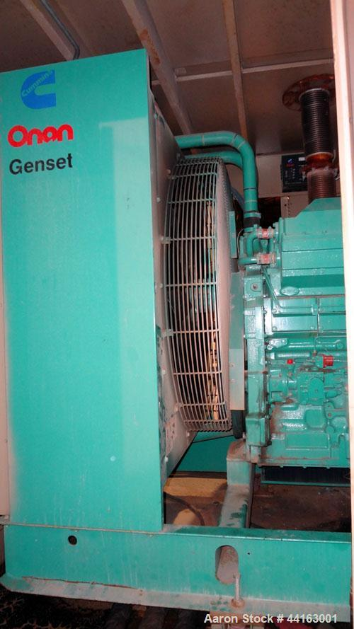 Used- Cummins 450kW standby (410 kW prime) diesel generator set, Cummins DFEC, SN-H920478934. Cummins KTA19-G3 engine rated ...