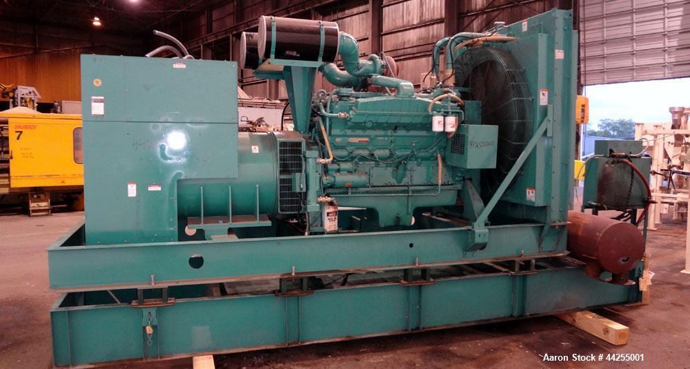 Used- Cummins 600 kW standby(545kW prime) diesel generator set, model 600DFGB, SN-K920490743. Cummins VTA28-G2 engine rated ...