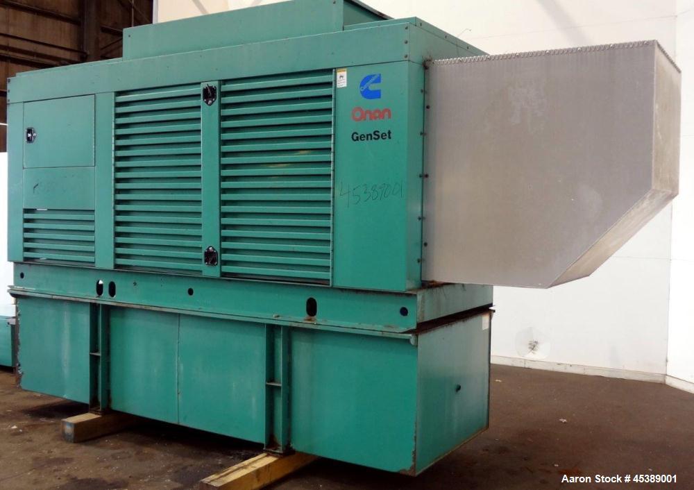 Used- Cummins 300 kW Standby Diesel Generator Set, Model 300 DFCB