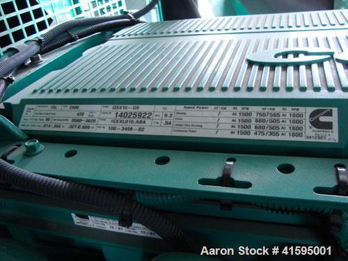 Used-  Cummins 400 kW Diesel Generator Set Model No. DFEH-5003700, SN-K010306857. Cummins QSX15-G9 engine, 755 hp @ 1800 rpm...