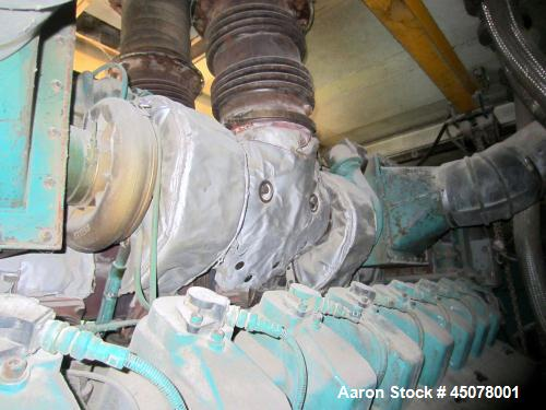 Used-Cummins 1250 kW Natural Gas Generator Set. Cummins QSV91-G engine, 1200 rpm, 3/60/480V.  Top end overhaul completed and...