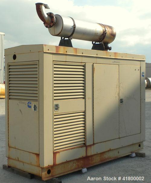 Used- Cummins 135 kW Continuous Rated Natural Gas Generator Set. Cummins G855 natural gas engine rated 220HP at 1800RPM, SN-...