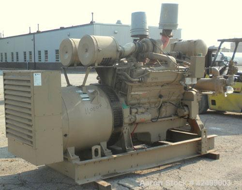 Used- Cummins 510 kW Standby Generator Set. 3/60/277/480V. Cummins Engine Model VTA-1710-GS, Engine No. 37102213. Stand alon...