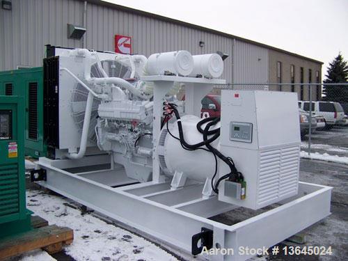 New-Cummins powered 1350 kW standby diesel generator set. Cummins QSK50-G3 EPA tier 2 engine rated 2090 HP @ 1800 RPM. Marat...