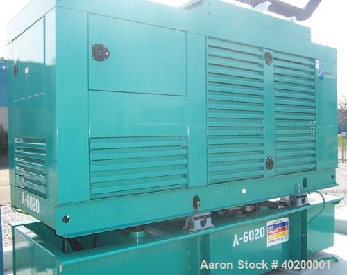 Unused-Used: Cummins 250 kW diesel generator set, model DFAC-5747859. 3/60/277-480V. Weather enclosure, base fuel tank. 13 t...