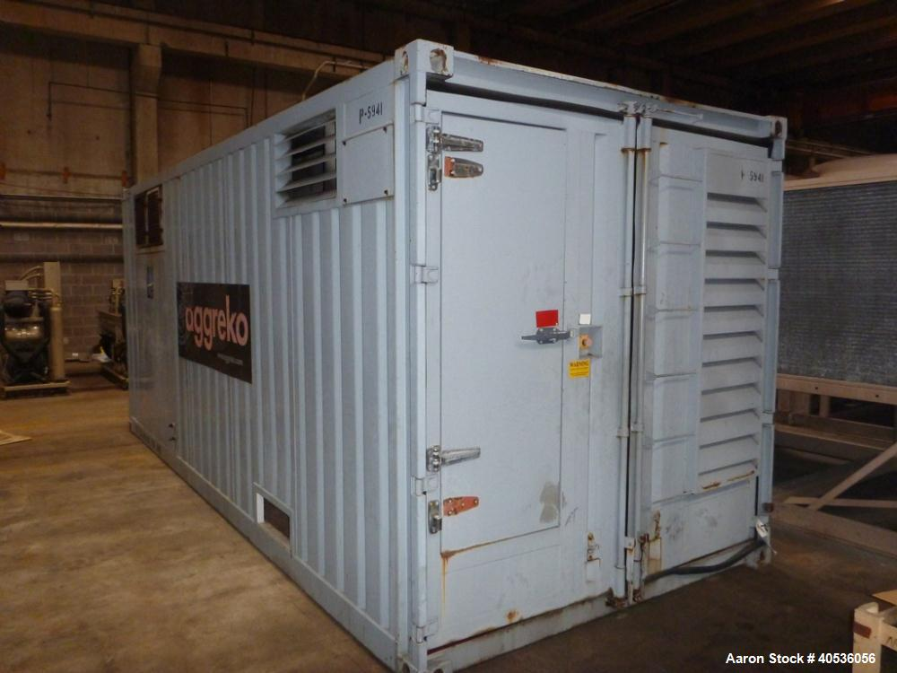 Used-Cummins 500 kW Genset, Cummins K-19 engine. Mounted in 20' container. 317 Hours. Coming in.