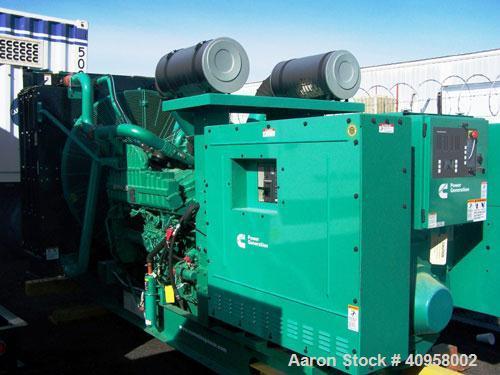 Unused-New-Cummins 1000 kW standby diesel generator set. Cummins QST30-G5 EPA tier 2 engine. 3/60/277/480V, 1800 rpm. High a...