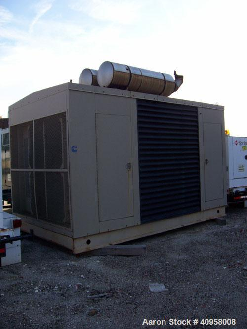 Used-Cummins 450 kW Natural Gas Generator Set. Cummins GTA28 natural gas engine. Currently set up at 120/208V, 12 lead recon...