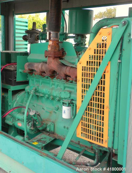 Used- Cummins 140 kW natural gas generator set. Cummins G855 natural gas engine rated 220HP at 1800 RPM, SN-25229790. Newage...