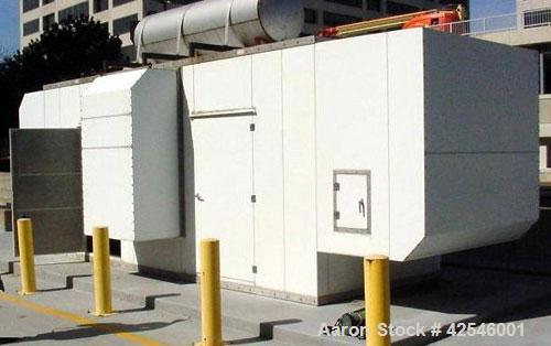 Used Cummins 750 kW Generator Set. 3/60/277 /480V.Sound attenuated enclosure, sub-base fuel tank. Hours 336, year 1996.