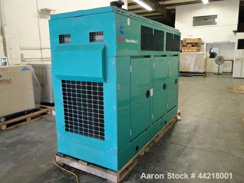 Used-Cummins 150 kW standby (135kW prime) diesel generator set. Cummins DFGA - 3368827 SN-C990883149. Cummins 6CTA8.3-G2 eng...