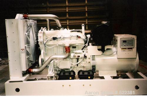 Unused-NEW Cummins powered 450 kW standby diesel generator set. Cummins QSX15-G9 EPA tier 3 engine. Marathon generator, 3/60...