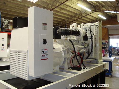 Unused-NEW- Cummins Powered 500 kW Standby Diesel Generator Set. Cummins QSX15-G9 EPA tier 2 engine rated 755HP @ 1800 RPM S...