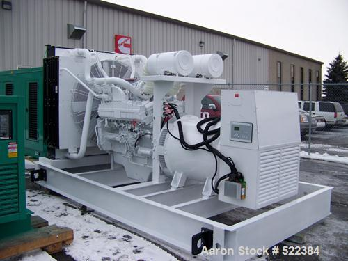 Unused-NEW Cummins powered 1000 kW standby diesel generator set. Cummins QST30-G5 (Tier 2) engine.Marathon generator model 7...