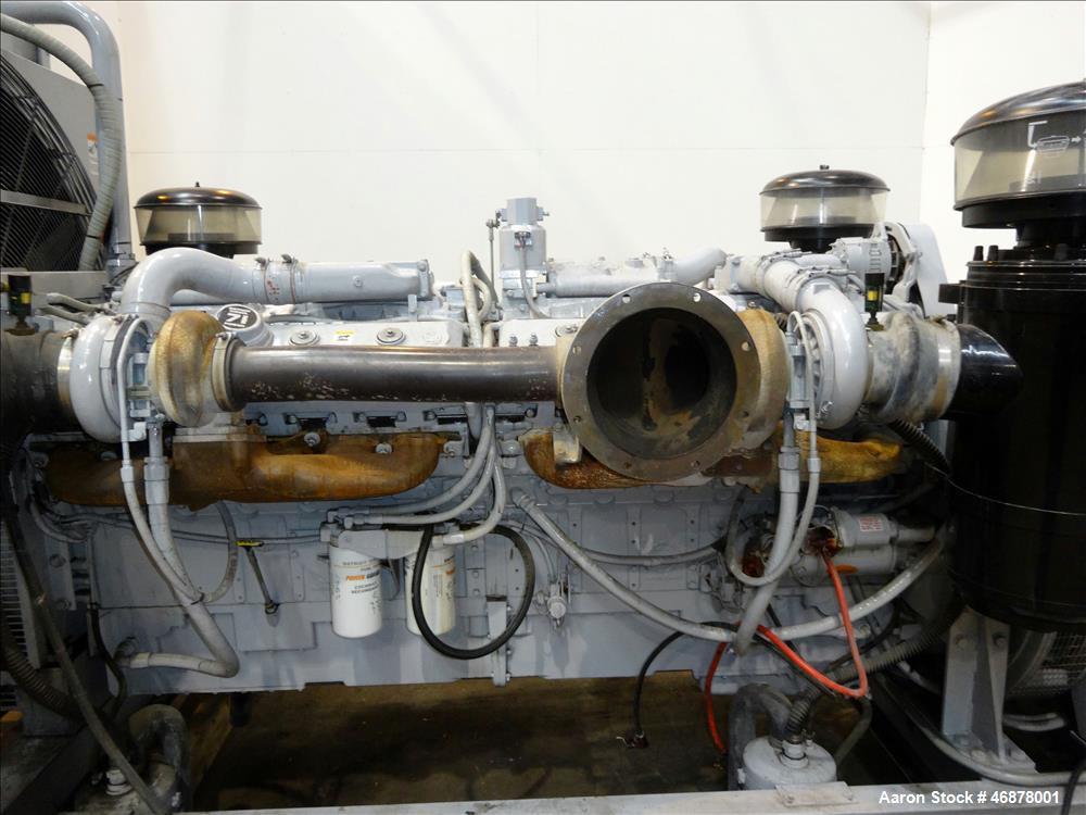 Used- Detroit Diesel Spectrum 1000 kW diesel generator. Detroit 24V-71TA engine