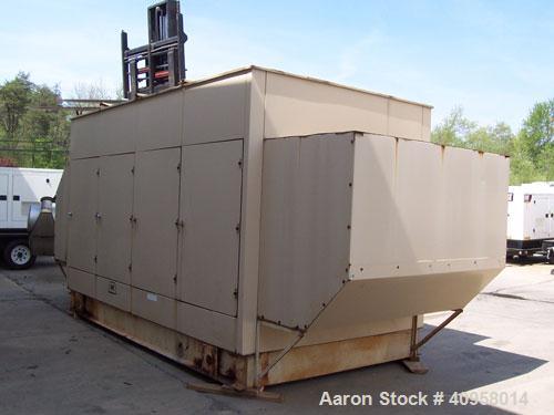 Used- Detroit Diesel 600kW, model 12VF12499 engine, 3/60/277-480V, sound enclosure, 1150 gallon sub-base fuel tank, 260 hrs,...