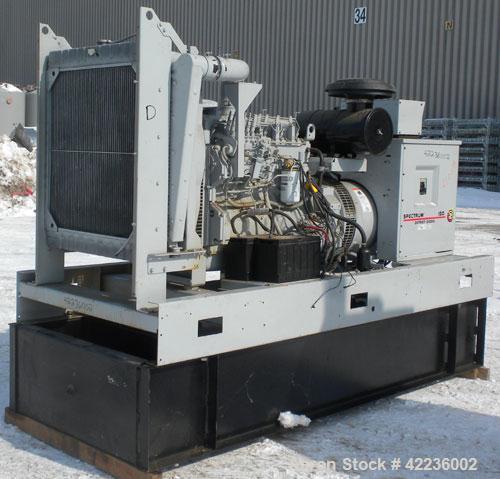 Used- Detroit Diesel / Spectrum 150 kW standby generator set. Model 150DS60 SN-387426. 3/60/277/480V.Main-line curcuit break...