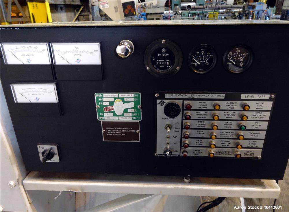 Used- Detroit Diesel 1500 kW diesel generator. Detroit Diesel 16V149 engine.