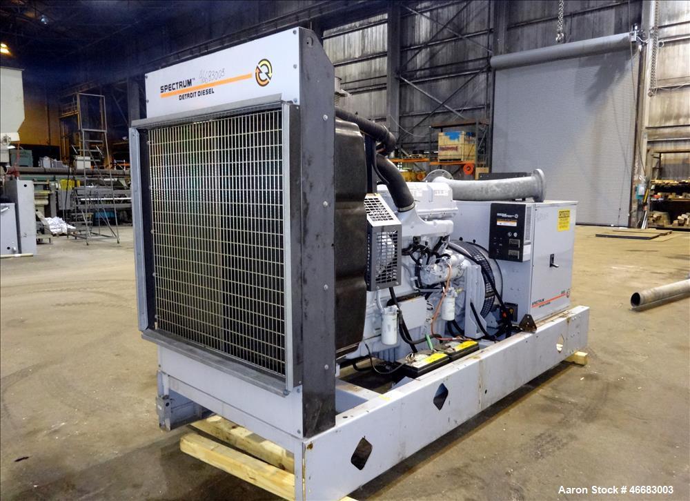 Used- Detroit Diesel Spectrum 260 kW  diesel generator, model 250SE