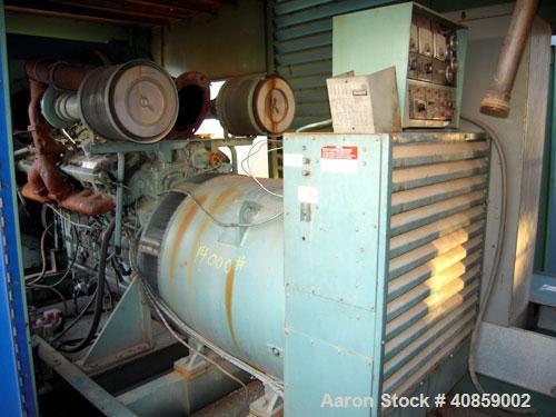 Used- Detroit Diesel 750 kW diesel generator set. Detroit Diesel 16V92T engine, 1095 brake horsepower, serial #16VF006867. M...