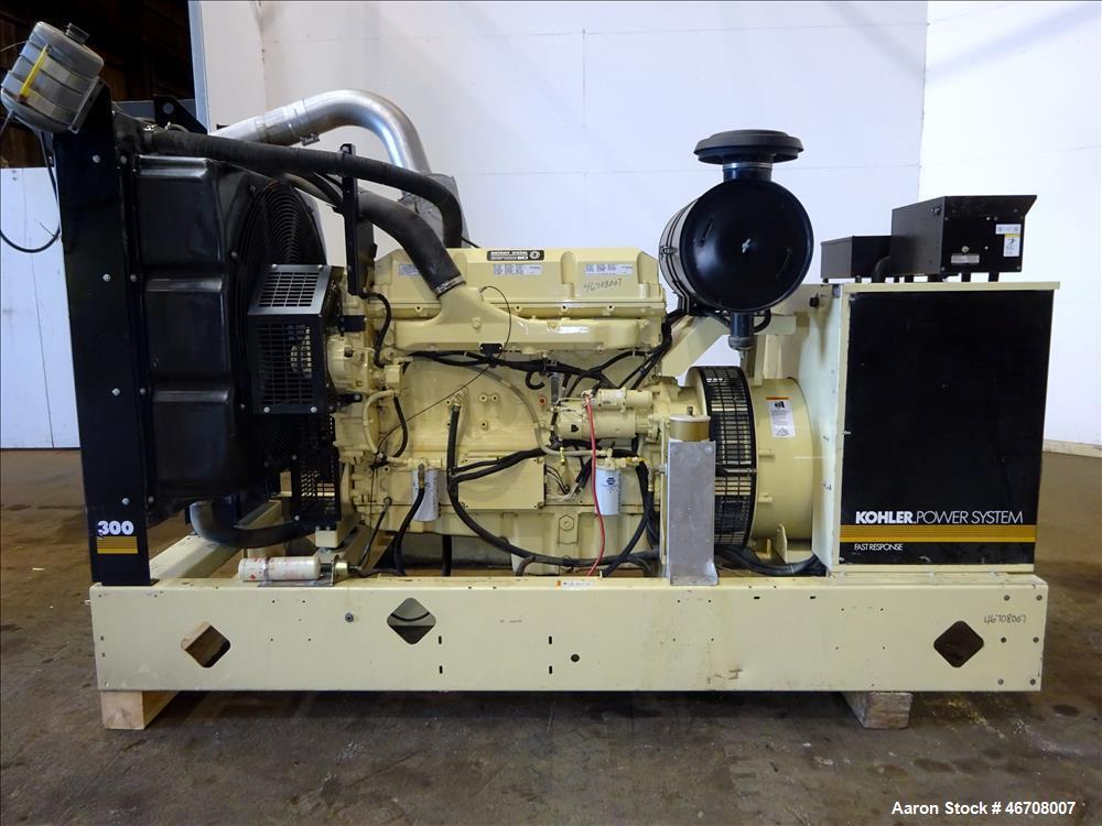 Used- Kohler 300 kW Diesel Generator, Model 300REOZDN.