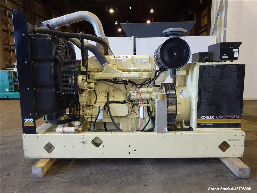 Used-Kohler 300 kW Diesel Generator Model 300REOZDN.