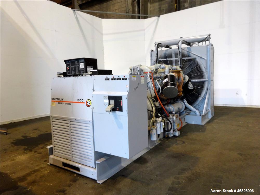 Used- Detroit Diesel 1200 KW diesel generator set, model 1200DS60, SN- 389976.