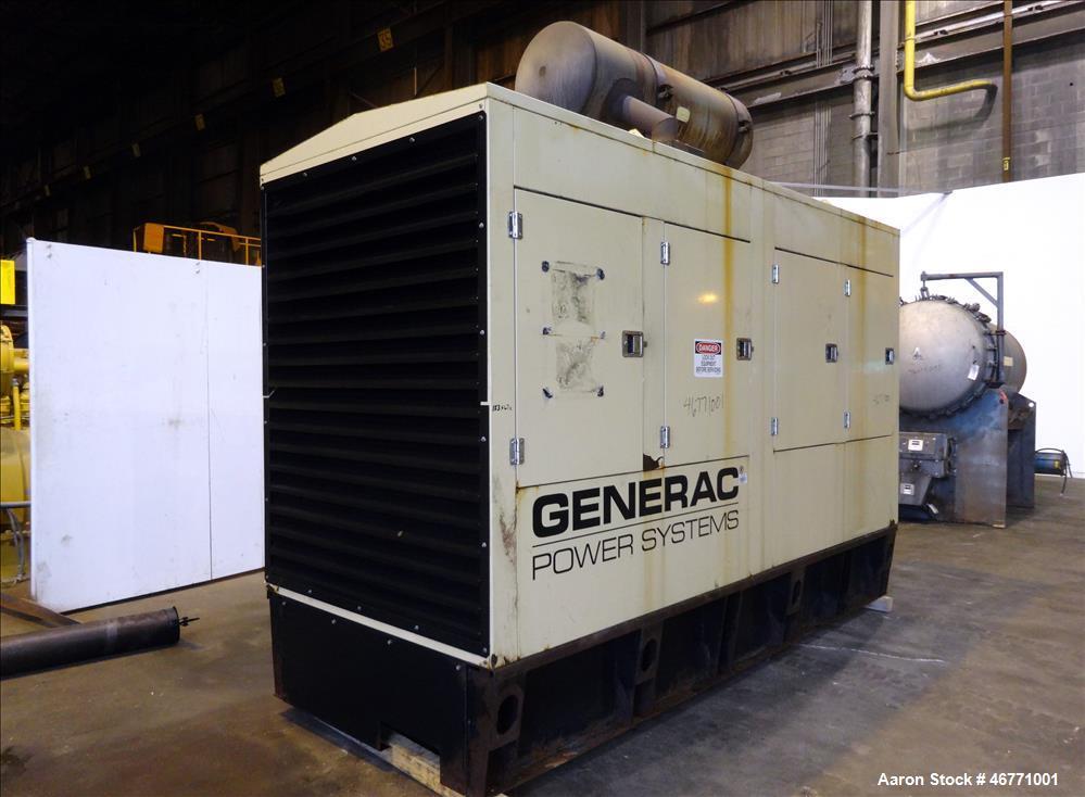 Used- Generac 500 kW  diesel generator  model 1706630100. Hino engine