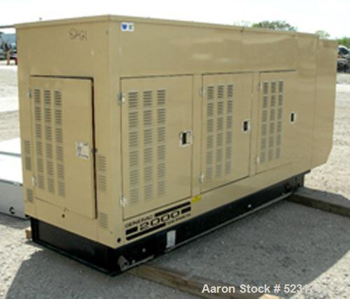 USED: Generac 100 kw standby LP gas generator, model 2322350100.100 kva, 1/60/120/240 volt, 416.6 amp. Brushless excitation,...
