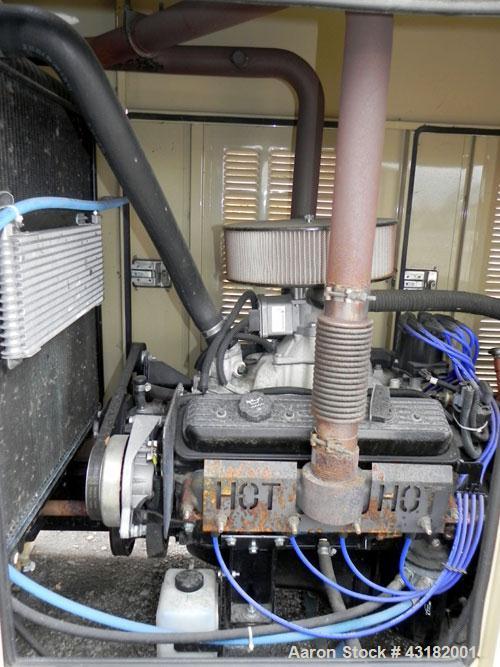 Used- Generac 80 kW Natural Gas Generator Set, Model 4914040100, Serial 2081560, 1/60/120/240V. 400 Amp main-line circuit br...