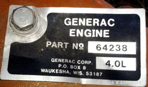 Used- Generac 60 kW Diesel Generator Set, Model 90A03879-S
