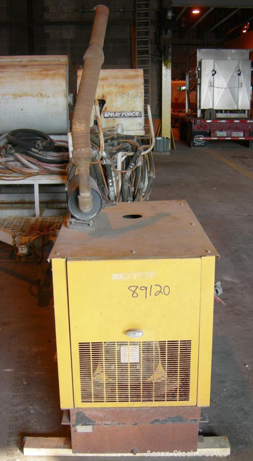 USED: Generac natural gas generator, 8 kw, 1/60/120/240 volt, 1800 rpm, 8 kva. 289.9 hours on meter.