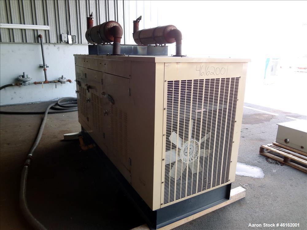 Used- Generac 100kW standby natural gas generator. GM 7.4 Liter engine.