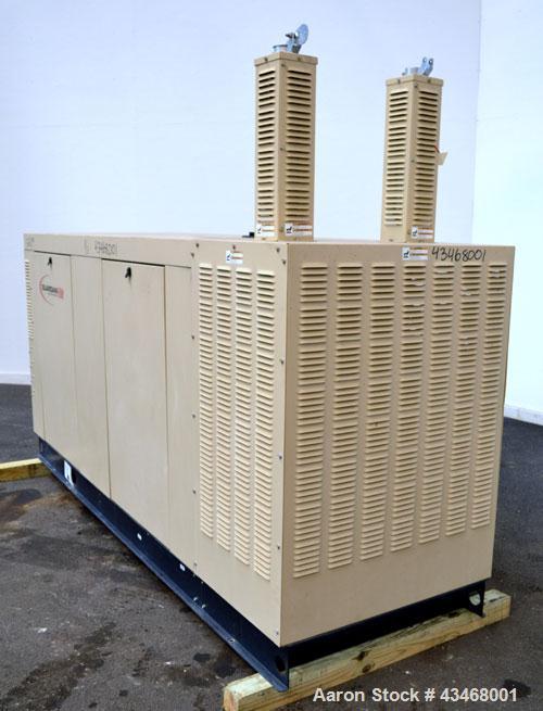 Used- Generac 100 kW natural gas generator set.Model QT10068JNSN 125 KVA SN-4898862, 3/60 120/240V. 350 Amp main-line circui...