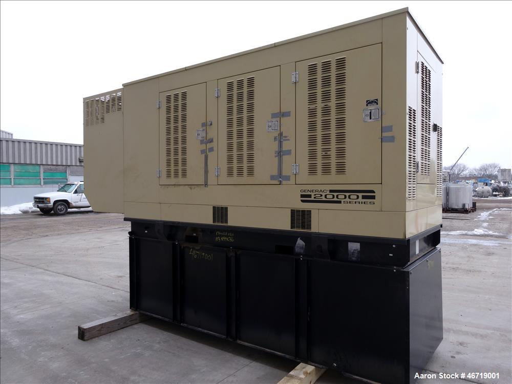 Used Generac 400 kW diesel generator, model SD400, Mitsubishi 16.0L engine