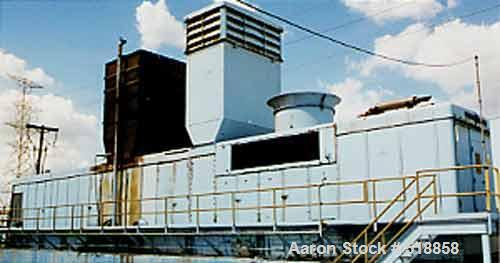 USED: General Electric 16,925kw ISO base load 5001 LA gas turbinegenerator unit, mfg 1968 and placed in utility service. 8,9...