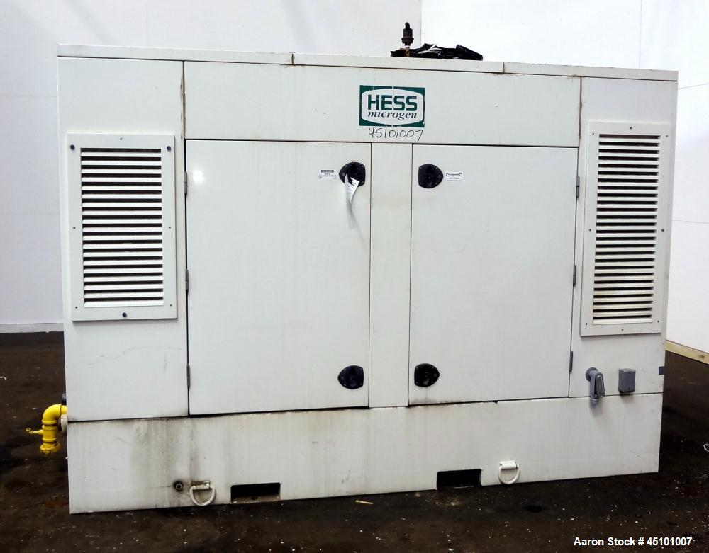 Used- Hess / Doosan 400 kW natural gas generator. Doosan model GV222TIC engine.