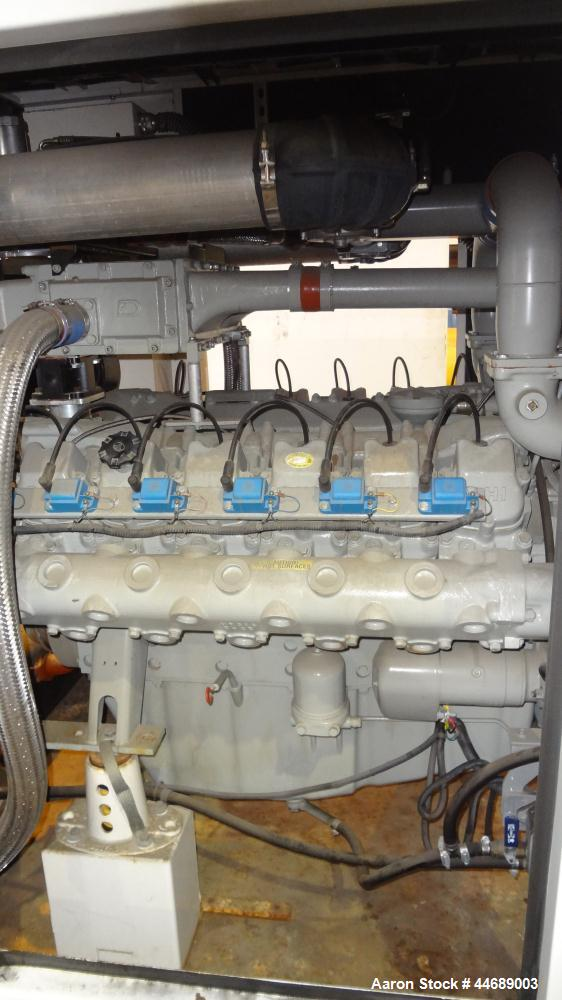 Unused-Hess Microgen 400 kW continuous rated natural gas generator set. Dawoo engine model GV222 TI 22 liter SNEEYOA200216. ...