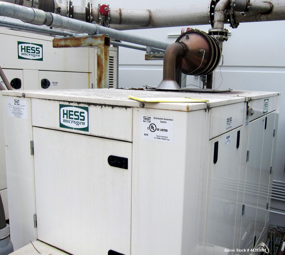 Used-Hess Microgen 160 kW prime rated natural gas generator set. 3/60/480V. Mounted in a sound attenuated enclosure. Require...