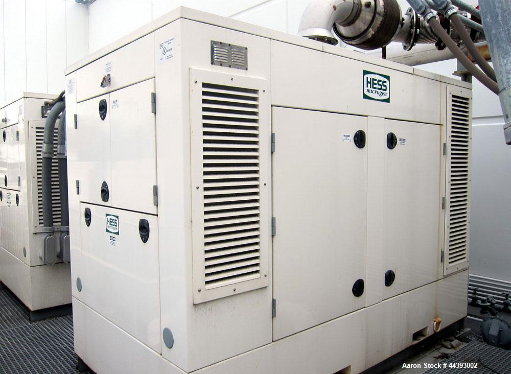 Used-Hess Microgen 280 kW prime rated natural gas generator set. 3/60/480V. Mounted in a sound attenuated enclosure. Require...