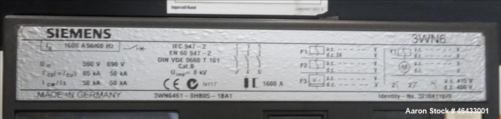 Used- Ingersoll Rand G575 504 kW Standby Portable Diesel Generator Set