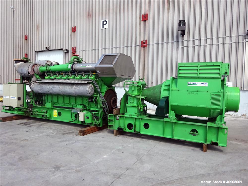 Used-Jenbacher 2000 kW natural gas generator. Jenbacher J616GS engine