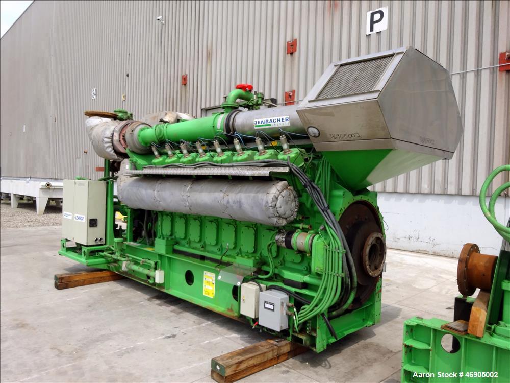 Used-Jenbacher 2000 kW natural gas generator. Jenbacher J616GS