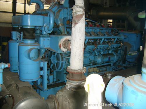 USED: Jenbacher 360 kw natural gas generator. Motor gype JW 212 G2.Heat exchange cooled. Stamford/Newage 427 kva, 360 kw, 27...