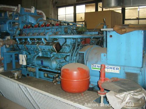 USED: Jenbacher 360 kw natural gas generator. Motor gype JW 212 G2.Heat exchange cooled. Stamford/Newage 427 kva, 360 kw, 27...