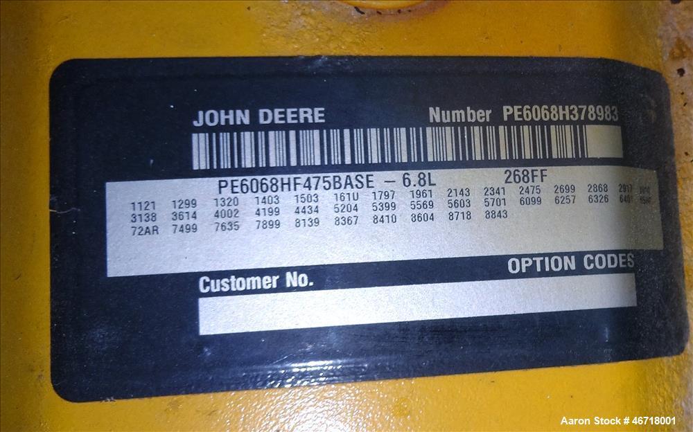 Used- Terex / John Deere 184 kW portable trailered diesel generator , model OT23