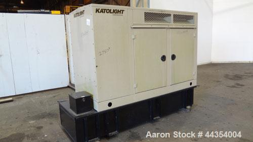 Used- Katolight 25 kW Standby (20kW Prime) Diesel Generator Set, model D25FDJ4T2, serial #140913-0107. John Deere model 4042...